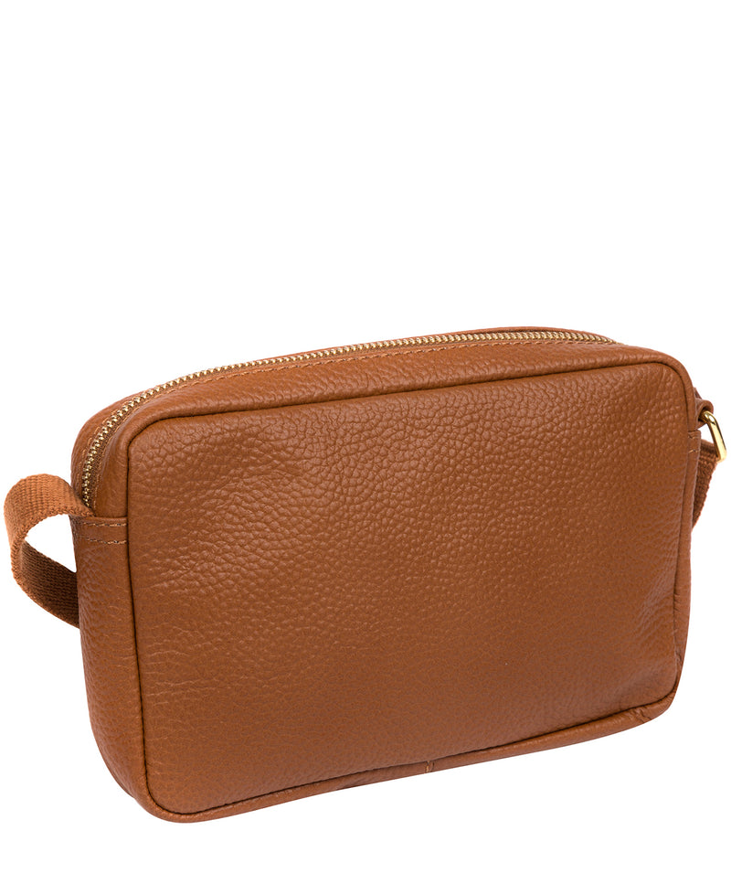'Laine' Tan Leather Cross Body Bag image 3