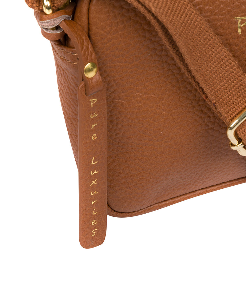 'Laine' Tan Leather Cross Body Bag image 5
