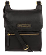 'Buxton' Black & Gold Leather Cross Body Bag image 1