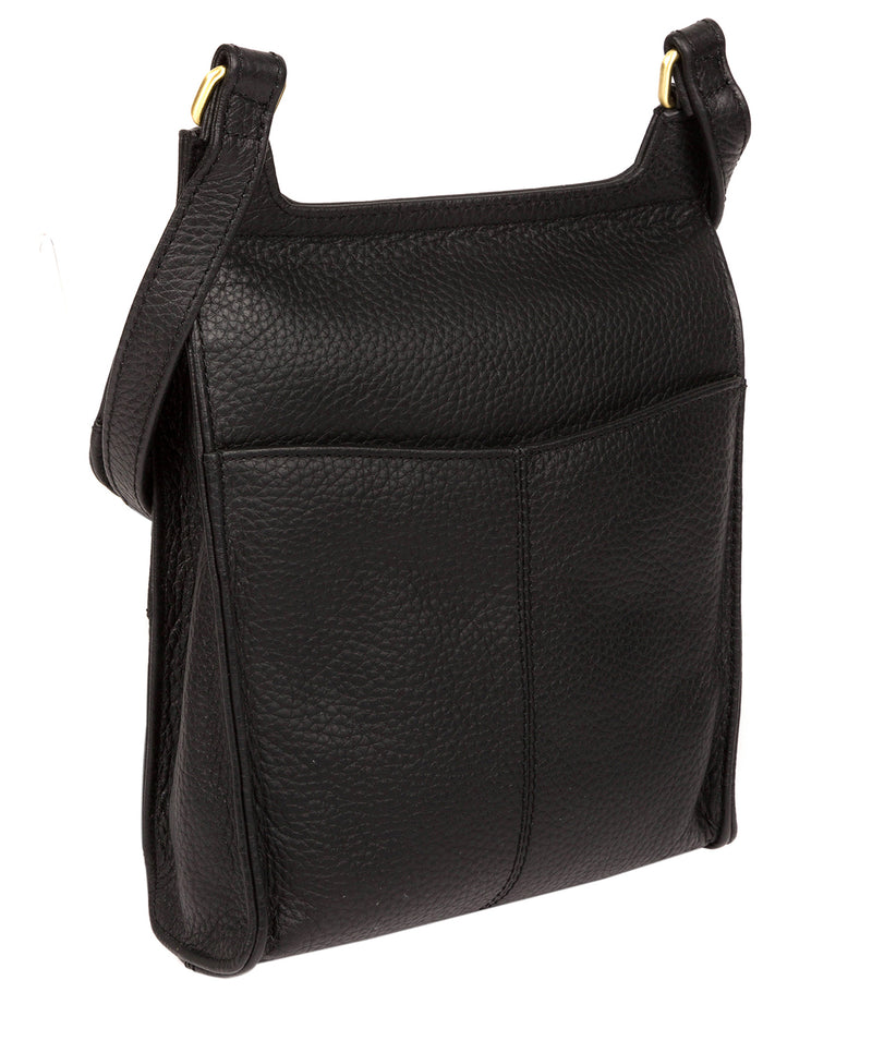 'Buxton' Black & Gold Leather Cross Body Bag image 3