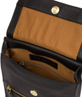 'Buxton' Black & Gold Leather Cross Body Bag image 4