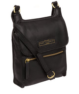 'Buxton' Black & Gold Leather Cross Body Bag Pure Luxuries London