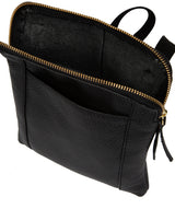 'Maisie' Black Leather Cross Body Bag  image 4