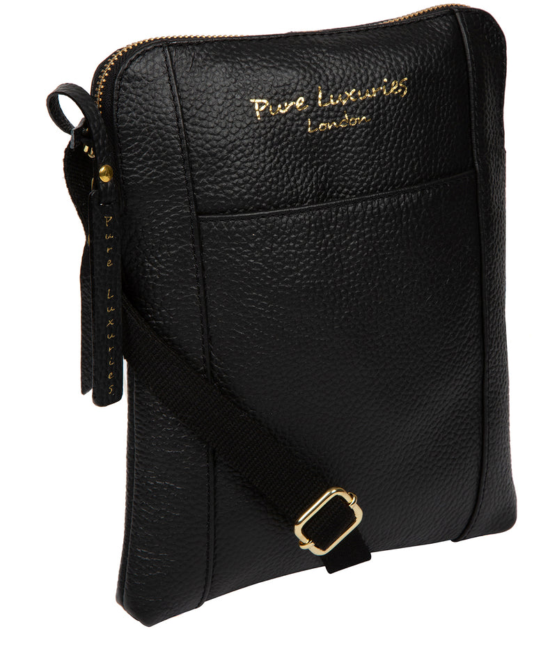 'Maisie' Black Leather Cross Body Bag  image 5