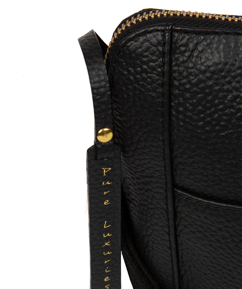 'Maisie' Black Leather Cross Body Bag  image 6