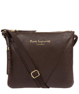 'Lupita' Chocolate Leather Cross Body Bag image 1