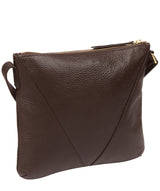 'Lupita' Chocolate Leather Cross Body Bag image 3