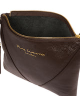 'Lupita' Chocolate Leather Cross Body Bag image 4
