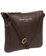 'Lupita' Chocolate Leather Cross Body Bag image 5