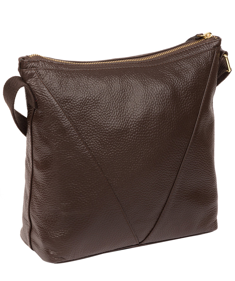'Rena' Chocolate Leather Cross Body Bag image 3