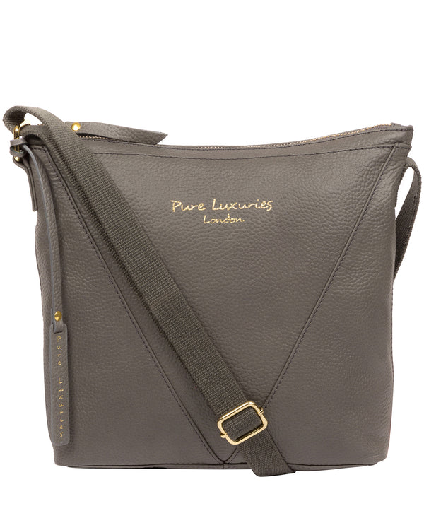'Rena' Grey Leather Cross Body Bag image 1
