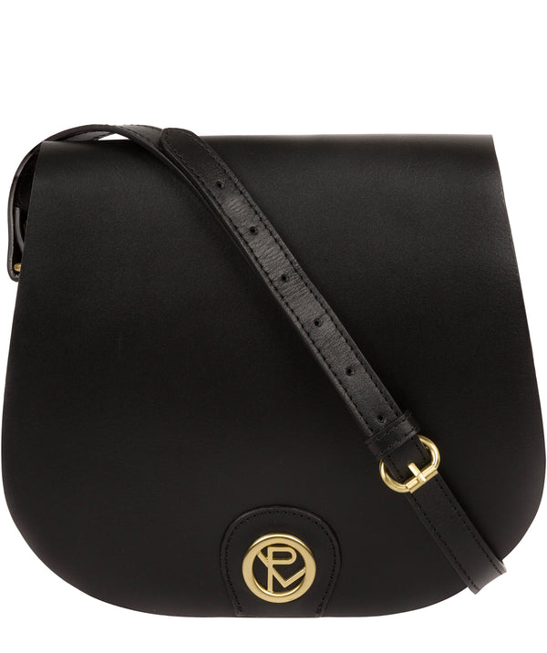 'Ambleside' Black Leather Cross Body Bag image 1