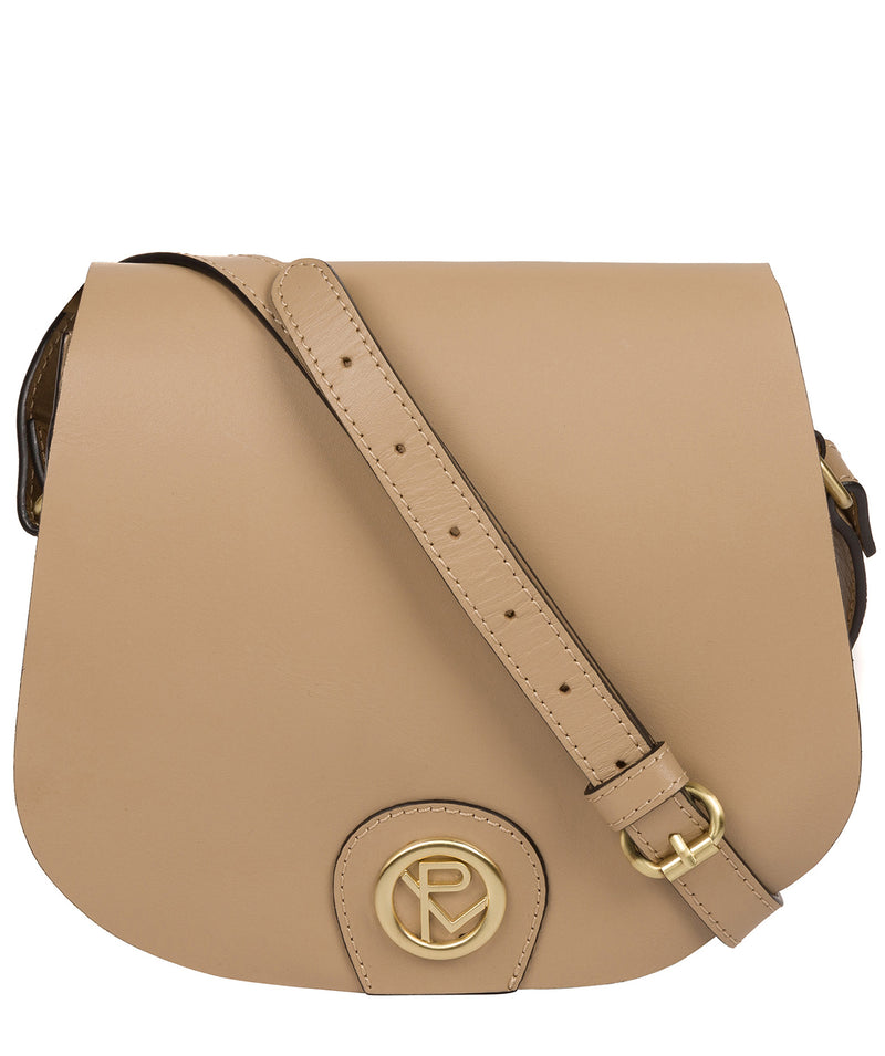 'Coniston' Beige Leather Cross Body Bag image 1
