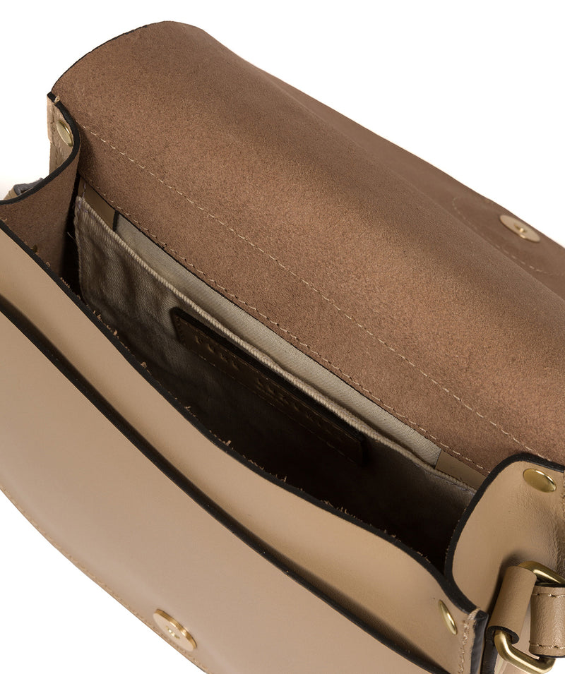 'Coniston' Beige Leather Cross Body Bag image 4