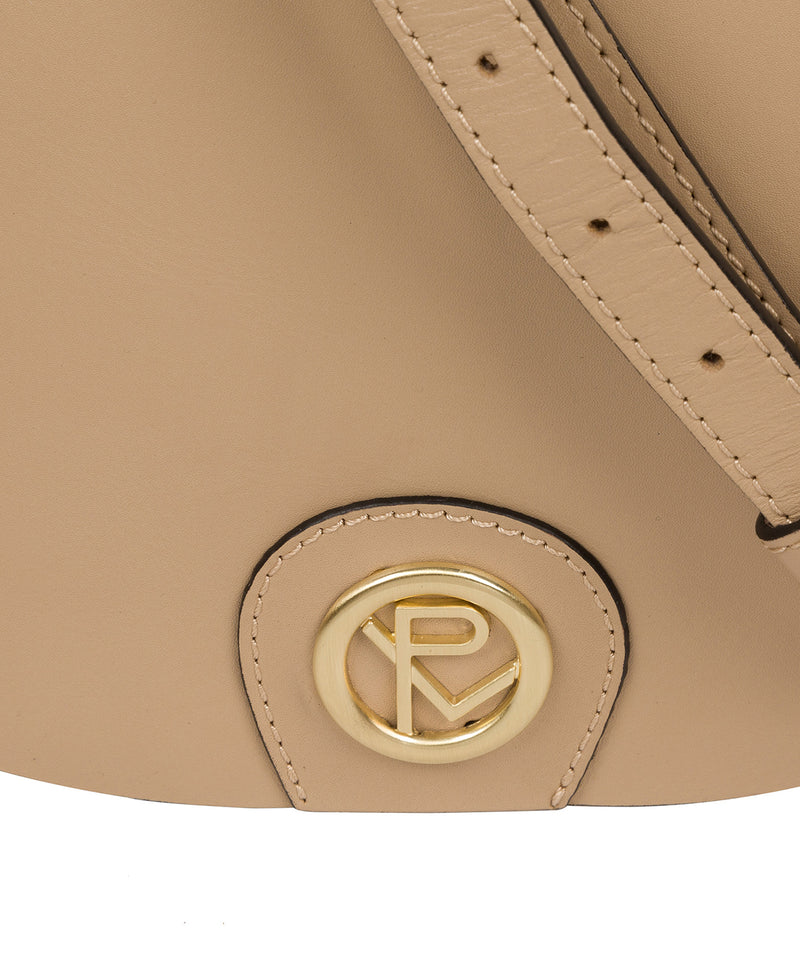 'Coniston' Beige Leather Cross Body Bag image 6