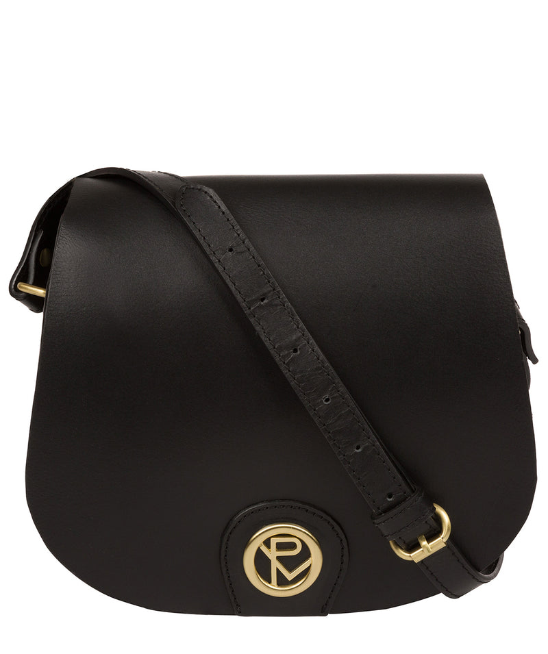 'Coniston' Black Leather Cross Body Bag image 1