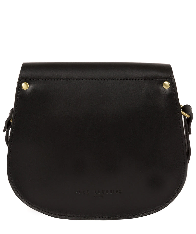 'Coniston' Black Leather Cross Body Bag image 3