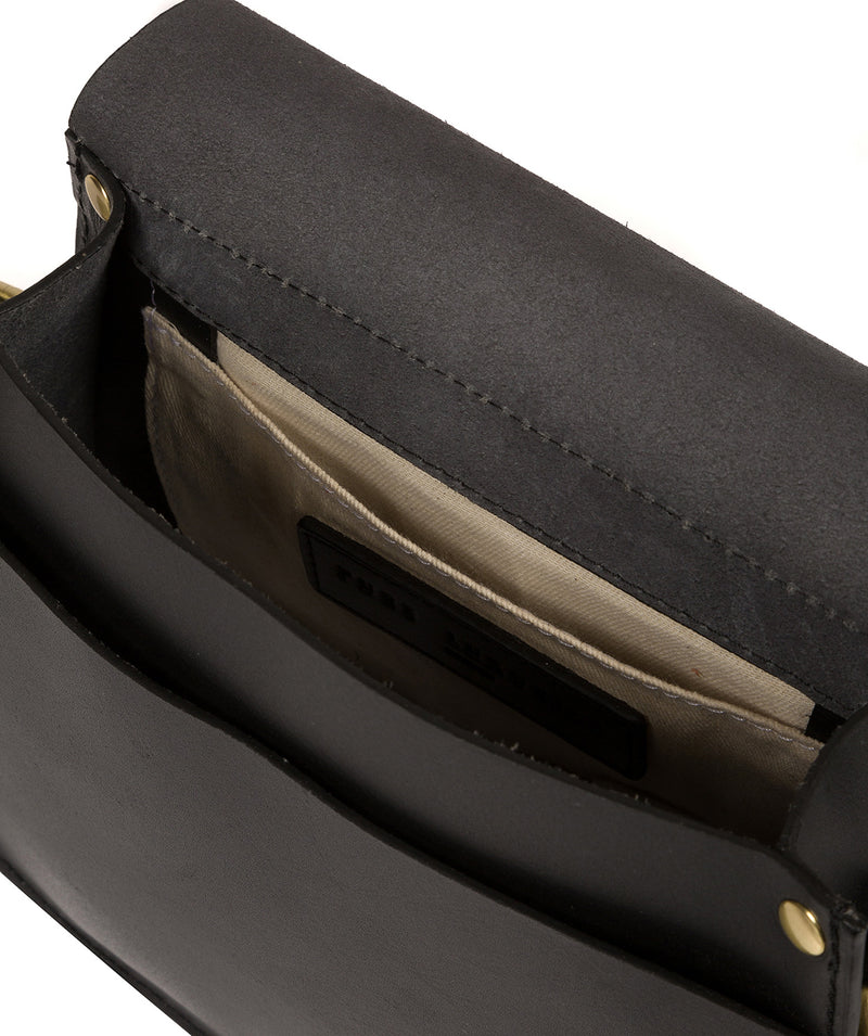 'Coniston' Black Leather Cross Body Bag image 4