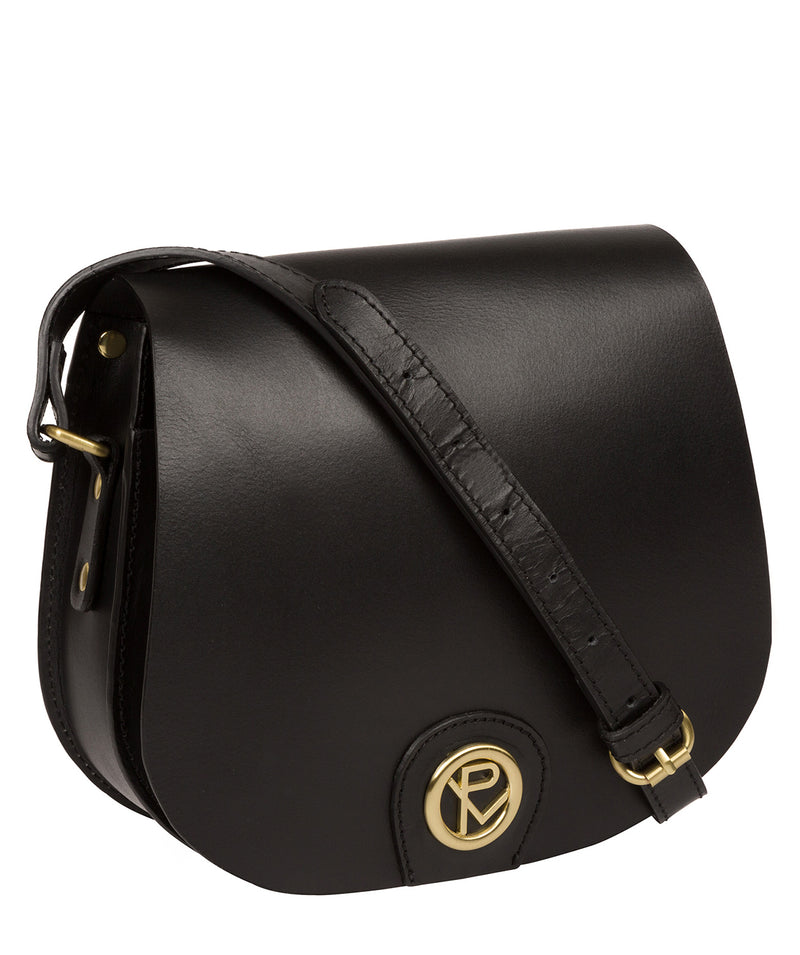 'Coniston' Black Leather Cross Body Bag image 5