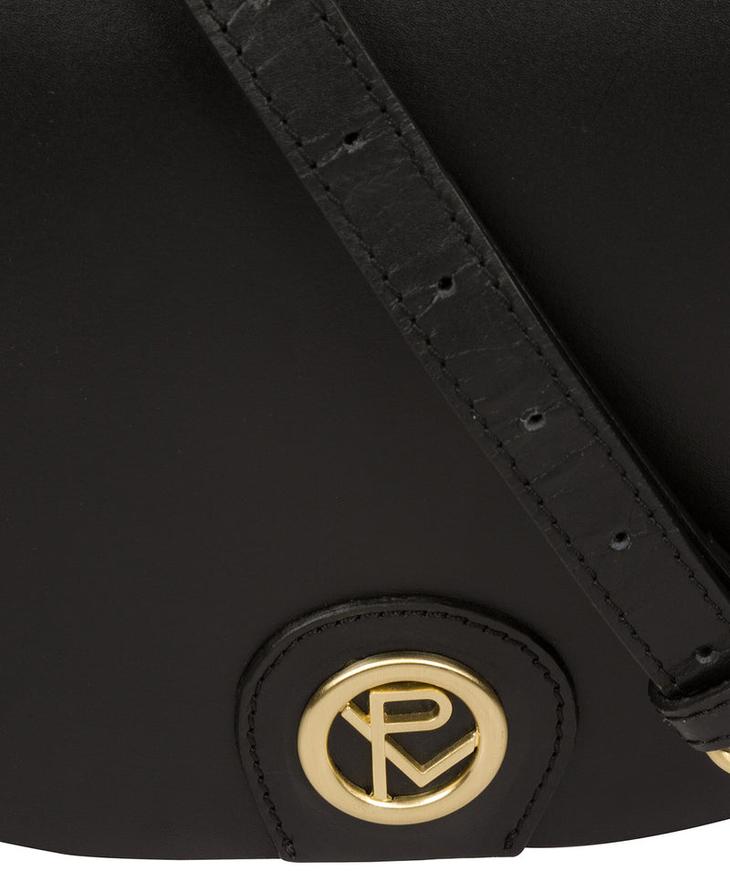 'Coniston' Black Leather Cross Body Bag image 6