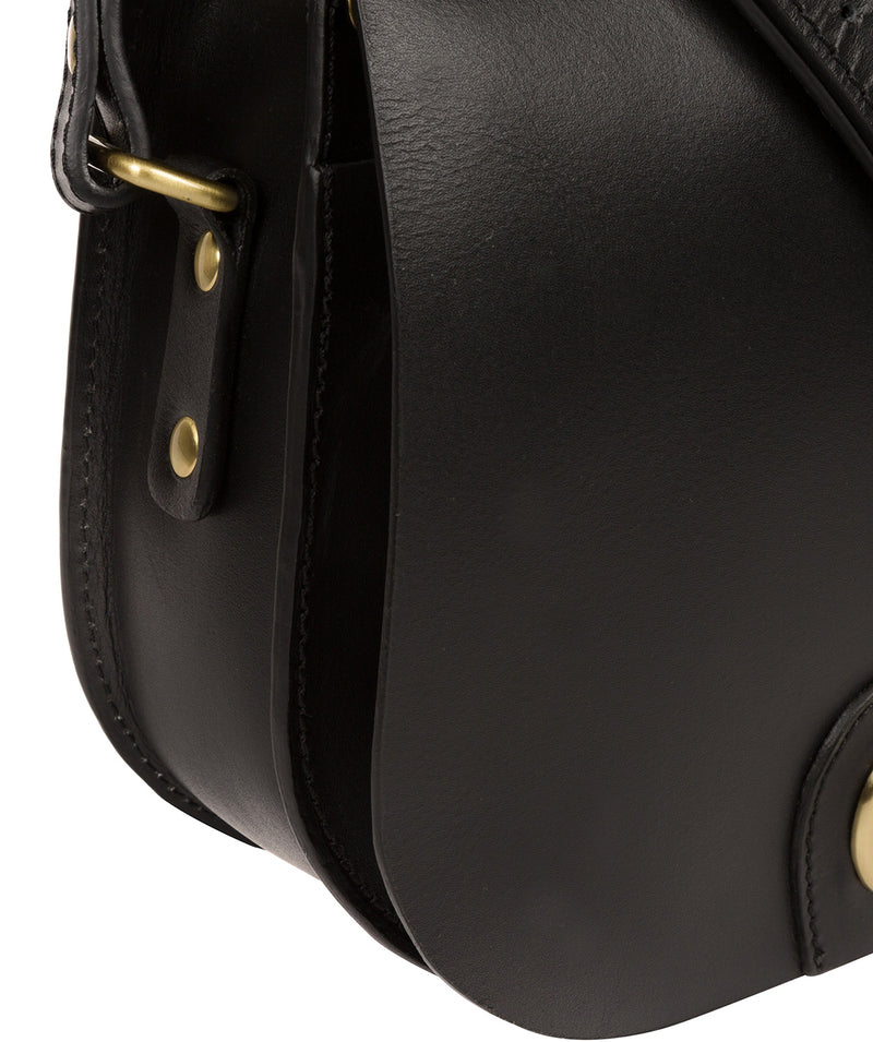 'Coniston' Black Leather Cross Body Bag image 7