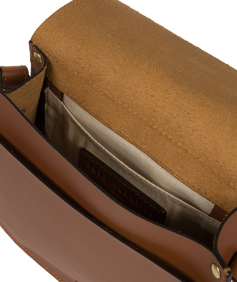 'Coniston' Tan Leather Cross Body Bag image 4