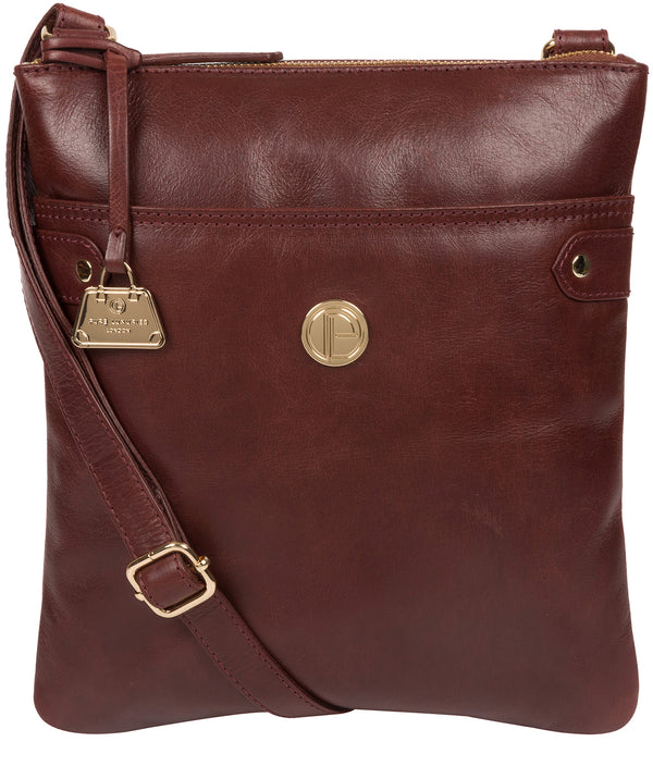 'Briony' Chestnut Leather Cross Body Bag image 1