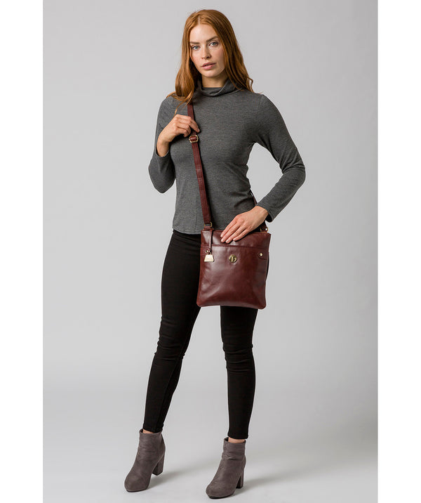 'Briony' Chestnut Leather Cross Body Bag image 2