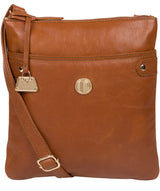 'Briony' Hazelnut Leather Cross Body Bag image 1