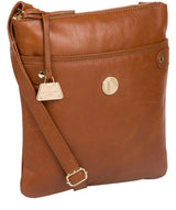 'Briony' Hazelnut Leather Cross Body Bag image 5