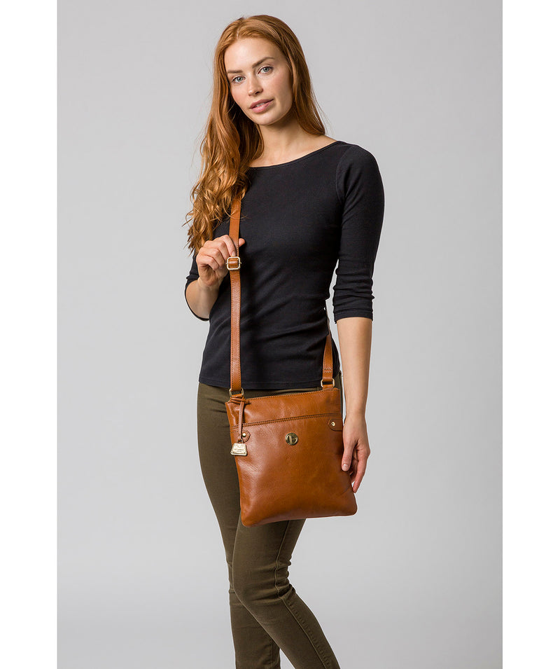 'Briony' Hazelnut Leather Cross Body Bag image 2