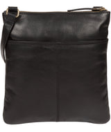 'Briony' Jet Black Leather Cross Body Bag image 3