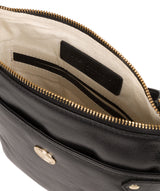 'Briony' Jet Black Leather Cross Body Bag image 4