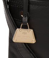 'Briony' Jet Black Leather Cross Body Bag image 6