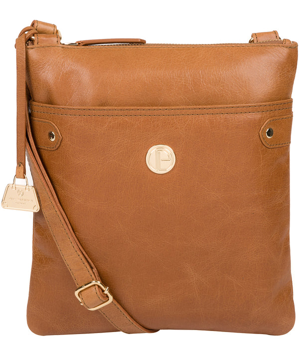'Briony' Saddle Tan Leather Cross Body Bag image 1