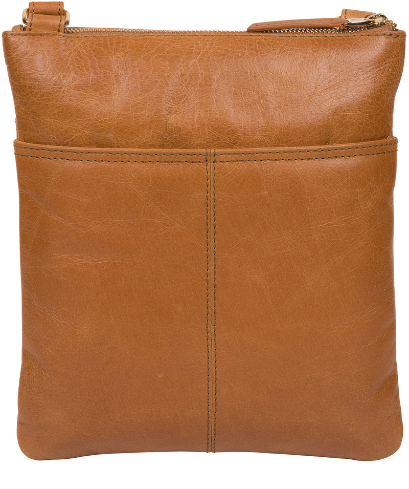 'Briony' Saddle Tan Leather Cross Body Bag image 3