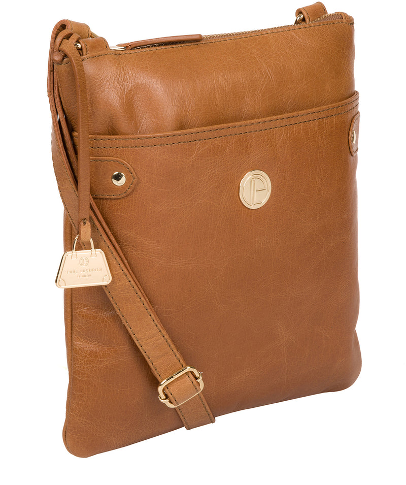'Briony' Saddle Tan Leather Cross Body Bag image 5