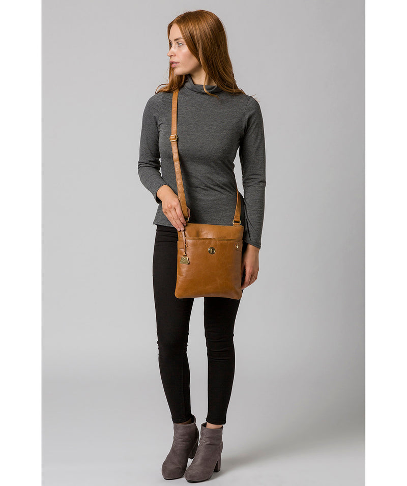'Briony' Saddle Tan Leather Cross Body Bag image 2