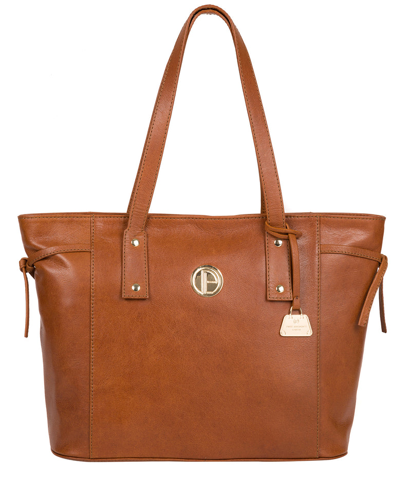 'Calista' Hazelnut Leather Tote Bag image 1