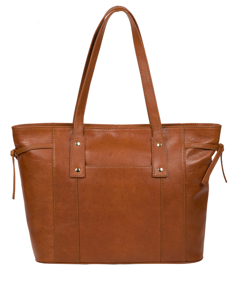 'Calista' Hazelnut Leather Tote Bag image 3
