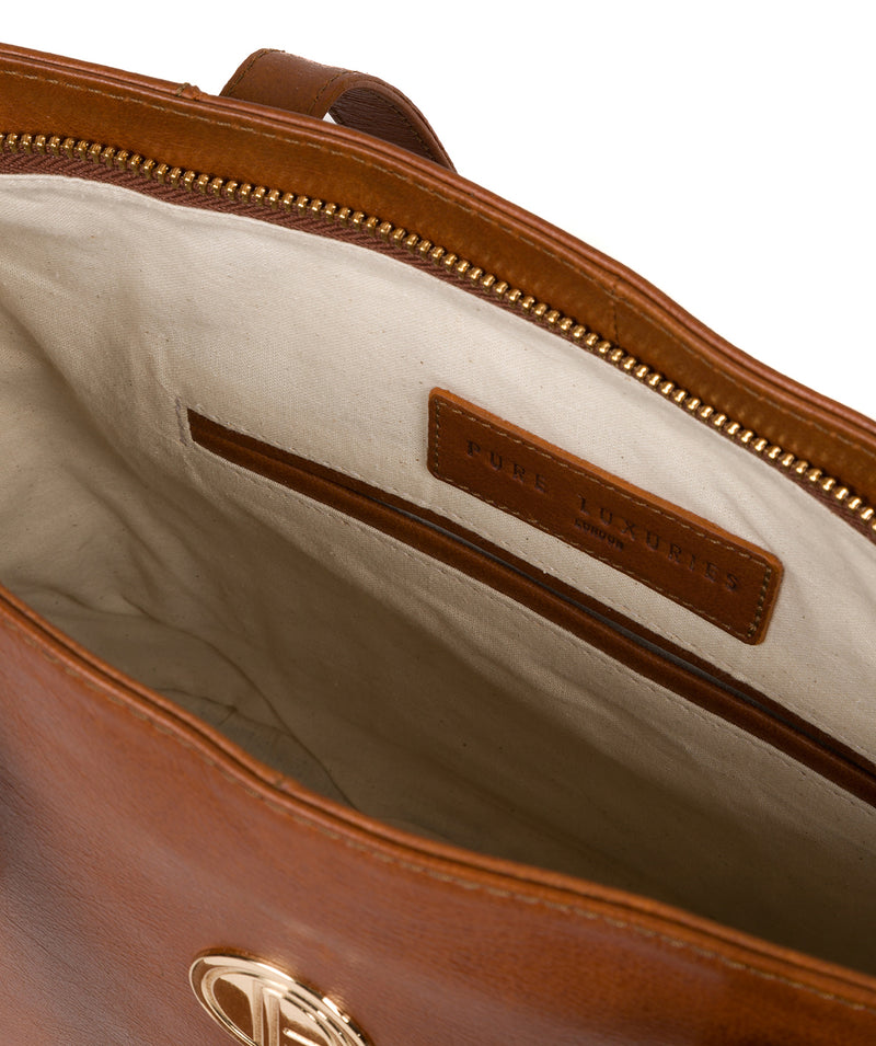 'Calista' Hazelnut Leather Tote Bag image 4