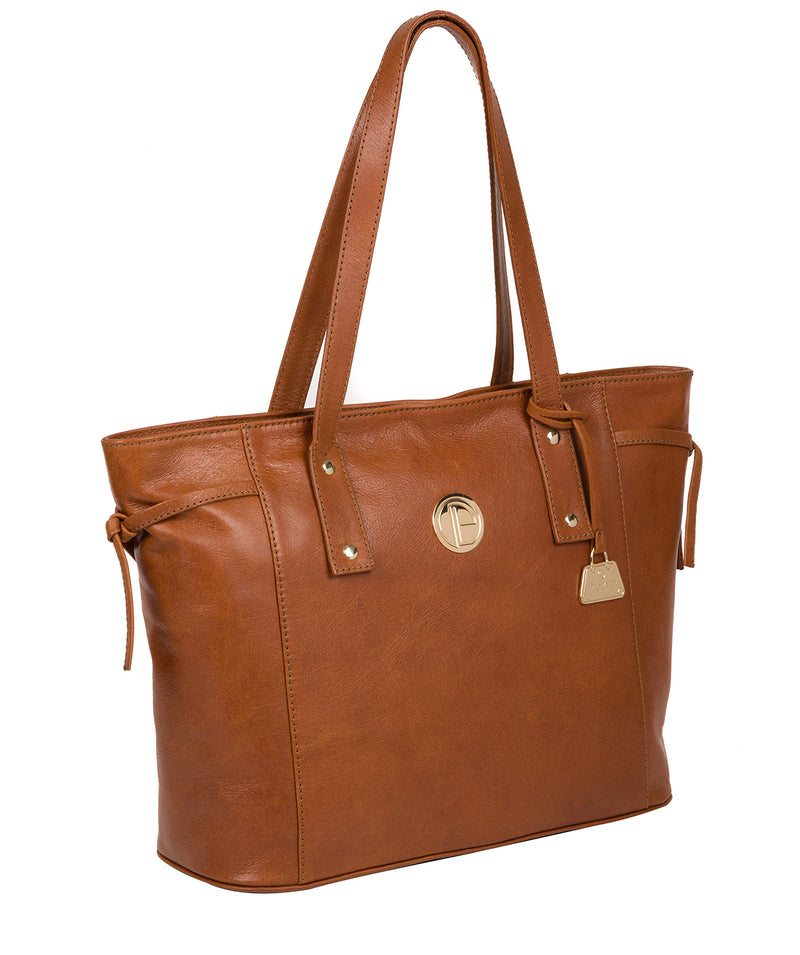 'Calista' Hazelnut Leather Tote Bag image 5