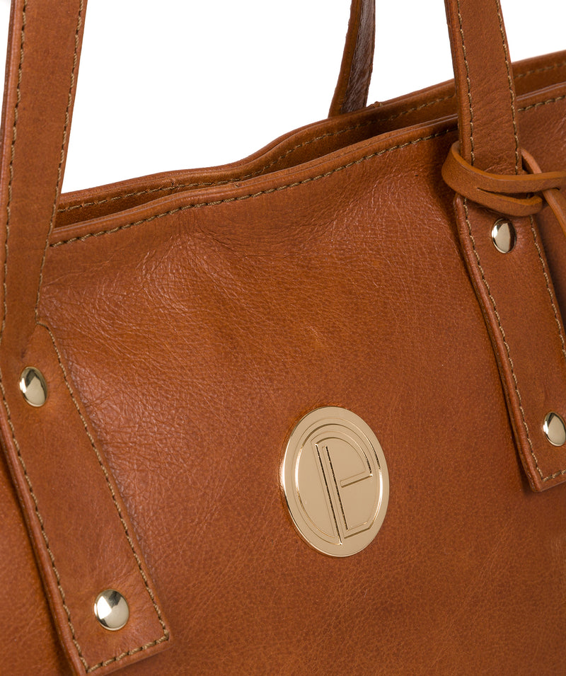 'Calista' Hazelnut Leather Tote Bag image 7