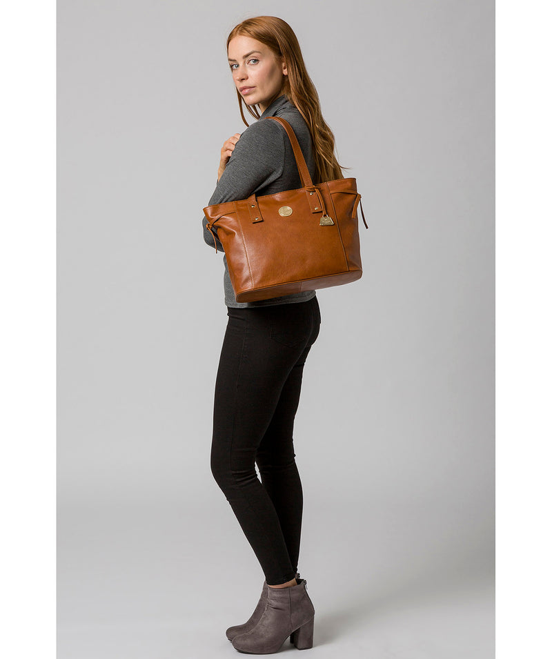 'Calista' Hazelnut Leather Tote Bag image 2
