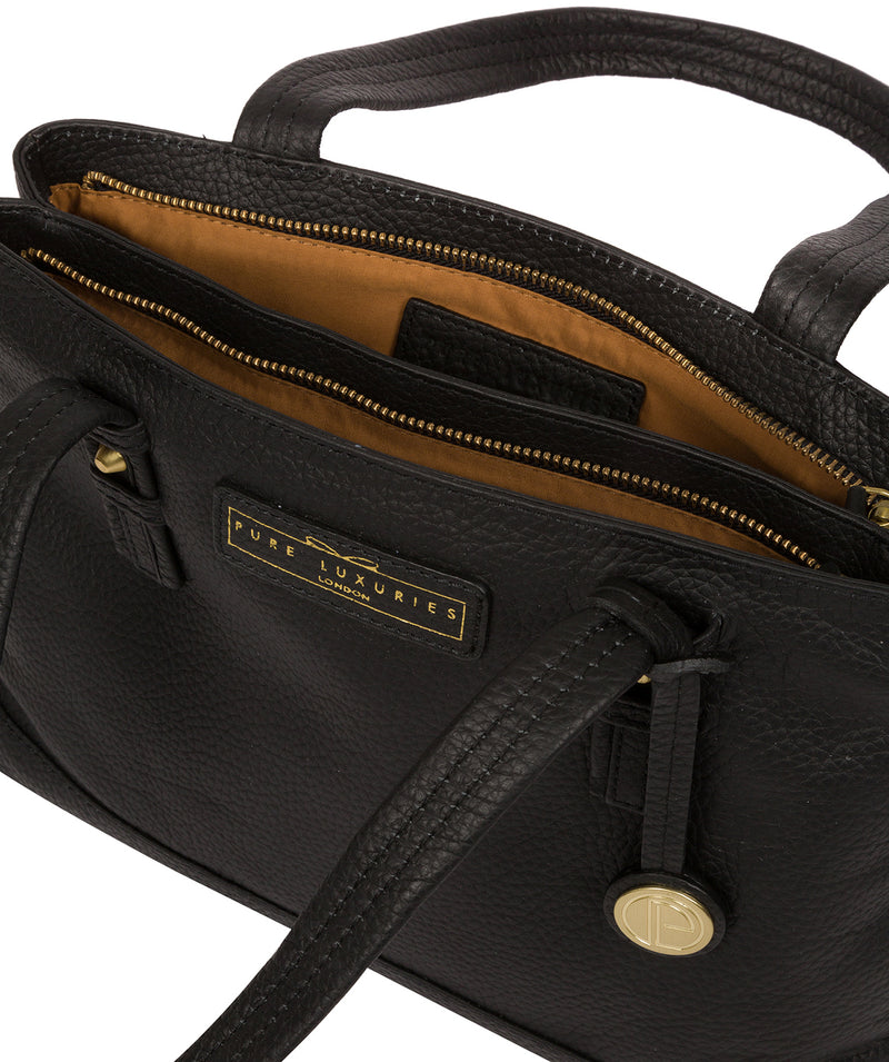 'Linton' Black & Gold Leather Handbag  image 4