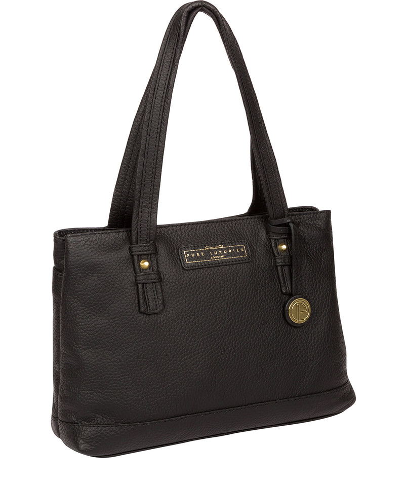 'Linton' Black & Gold Leather Handbag  image 5