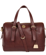 'Iris' Chestnut Leather Handbag image 1