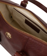 'Iris' Chestnut Leather Handbag image 4
