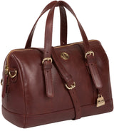 'Iris' Chestnut Leather Handbag image 5
