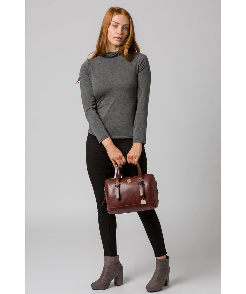 'Iris' Chestnut Leather Handbag image 7